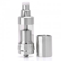 SXK KF V5 KF 5 Style RTA Rebuildable Tank Atomizer - Silver, 316 Stainless Steel, 5ml, 22mm Diameter