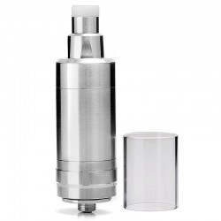 LieFeng KF V5 KF 5 Style RTA Rebuildable Tank Atomizer - Silver, 316 Stainless Steel, 5ml, 22mm Diameter