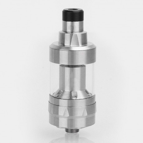 SXK KF Prime Style RTA Rebuildable Tank Atomizer - Silver, 316 Stainless Steel, 2ml, 22mm Diameter