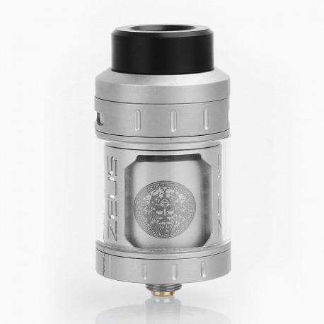 Authentic GeekVape Zeus RTA Rebuildable Tank Atomizer - Silver, Stainless Steel, 25mm Diameter, 4ml EU / TPD Edition
