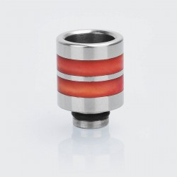 510 Replacement Drip Tip for SMOKTech SMOK TFV8 Baby Sub Ohm Tank - Red, Epoxy Resin + Stainless Steel, 21mm