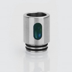 810 Replacement Drip Tip for TFV8 / TFV12 Tank / Goon / Kennedy RDA - Green, Epoxy Resin + Stainless Steel, 21mm