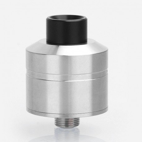 YFTK Pocket D/S Style RDA Rebuildable Dripping Atomizer w/ BF Pin - Silver, 316 Stainless Steel, 22mm Diameter