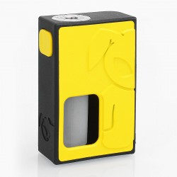 S-Rabbit Style Squonk Mechanical Box Mod - Yellow, 8ml, 1 x 18650