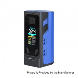 Authentic IJOY Captain X3 324W TC VW Variable Wattage Box Mod - Blue, Zinc Alloy, 3 x 18650 / 20700