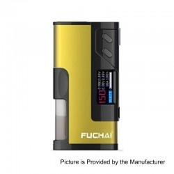 Authentic Sigelei Fuchai Squonk 213 150W TC VW Variable Wattage Mod - Yellow, 10~150W, 1 x 18650 / 20700 / 21700