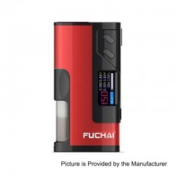 Authentic Sigelei Fuchai Squonk 213 150W TC VW Variable Wattage Mod - Red, 10~150W, 1 x 18650 / 20700 / 21700
