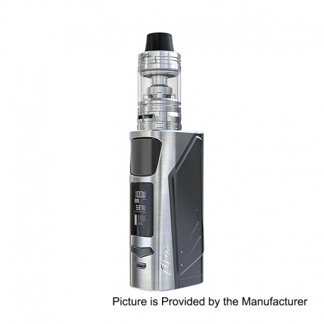 Authentic IJOY Elite PS2170 100W 3750mAh TC VW Mod + Captain Mini Tank Kit - Silver, 1 x 18650 / 20700 / 21700, 3.2ml, 22.5mm