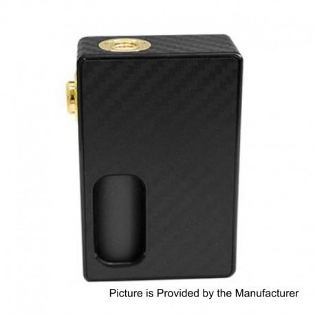Authentic Wotofo Nudge Squonk Mechanical Box Mod - Black, Carbon Fiber + 24K Gold, 7ml, 1 x 18650