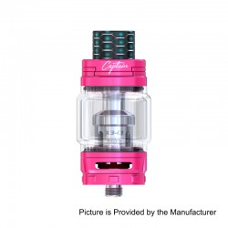 Authentic IJOY Captain X3 Sub Ohm Tank Atomizer - Pink, Stainless Steel, 8ml, 25mm Diameter