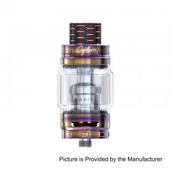 Authentic IJOY Captain X3 Sub Ohm Tank Atomizer - Rainbow, Stainless Steel, 8ml, 25mm Diameter