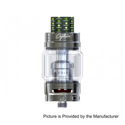 Authentic IJOY Captain X3 Sub Ohm Tank Atomizer - Gun Metal, Stainless Steel, 8ml, 25mm Diameter