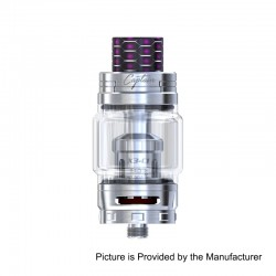 Authentic IJOY Captain X3 Sub Ohm Tank Atomizer - Silver, Stainless Steel, 8ml, 25mm Diameter