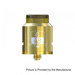 Authentic IJOY Combo RDA Triangle Rebuildable Dripping Atomizer w/ BF Pin - Gold, Stainless Steel, 25mm Diameter