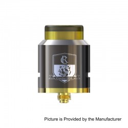 Authentic IJOY Combo RDA Triangle Rebuildable Dripping Atomizer w/ BF Pin - Gun Metal, Stainless Steel, 25mm Diameter