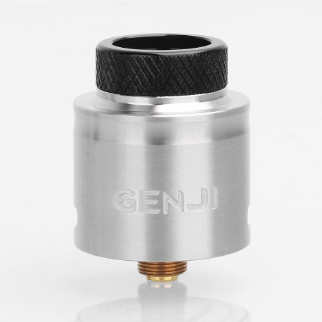 Authentic Tigertek Genji RDA Rebuildable Dripping Atomizer - Silver, Stainless Steel, 24mm Diameter