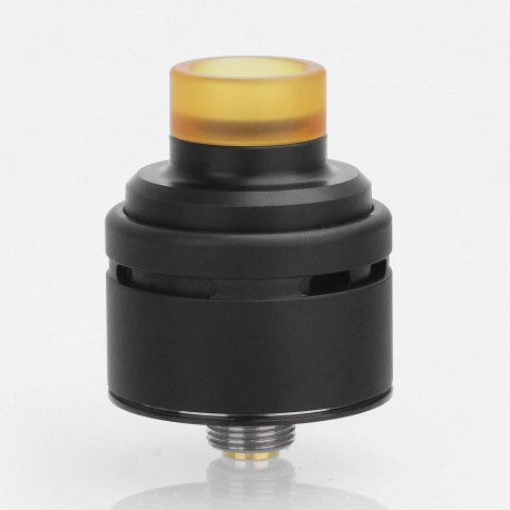 SXK Squi Style RDA Rebuildable Dripping Atomizer w/ BF Pin - Black, 316 Stainless Steel + POM, 22mm Diameter