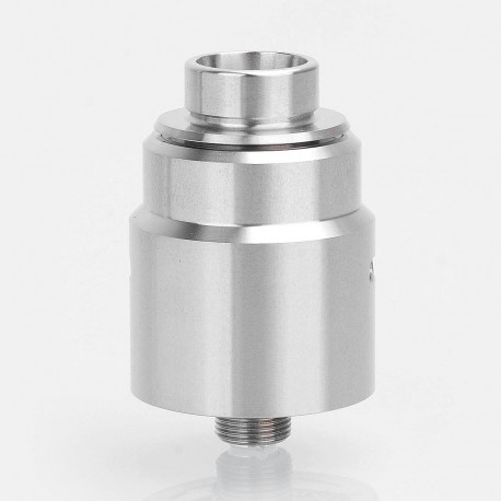 ShenRay Entheon Style RDA Rebuildable Dripping Atomizer w/ BF Pin + Spare Drip Tips - Silver, 316 Stainless Steel, 22mm Diameter