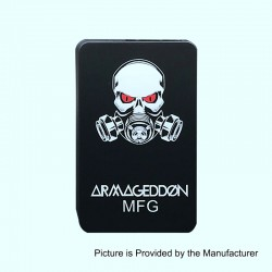 Armageddon Style Bottom Feeder Squonk Mechanical Box Mod - Black, ABS + PC, 6ml, 1 x 18650