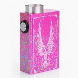 Fire Phoenix Style BF Bottom Feeder Squonk Mechanical Box Mod - Spotted Red, Aluminum, 4ml, 1 x 18650
