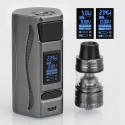 Authentic IJOY Genie PD270 234W TC VW Mod + Captain S Tank Kit - Gun Metal, 2 x 20700, 4ml, 25mm, w/o Battery