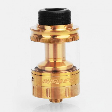 Authentic Augvape Boreas V2 RTA Rebuildable Tank Atomizer - Gold, Stainless Steel, 5ml, 24mm Diameter