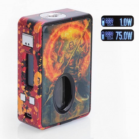 Authentic Hcigar VT Inbox 75W TC VW Varible Wattage Box Mod - Yellow, 1~75W, 1 x 18650, Evolv DNA75 Chip