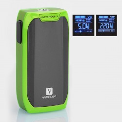 Authentic Vaporesso Revenger X 220W TC VW Variable Wattage Mod - Green, 5~220W, 2 x 18650