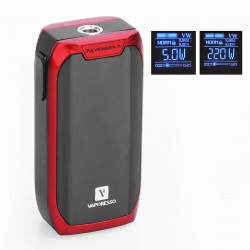 Authentic Vaporesso Revenger X 220W TC VW Variable Wattage Mod - Red, 5~220W, 2 x 18650