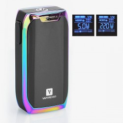 Authentic Vaporesso Revenger X 220W TC VW Variable Wattage Mod - Rainbow, 5~220W, 2 x 18650