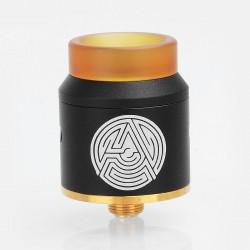 Authentic Advken Artha RDA Rebuildable Dripping Atomizer w/ BF Pin - Black, Stainless Steel, 24mm Diameter