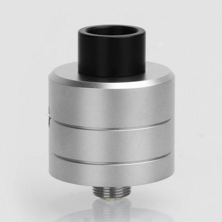 SXK Haku Phenom Style RDA Rebuildable Dripping Atomizer w/ BF Pin - Silver, 316 Stainless Steel, 22mm Diameter