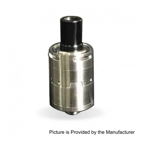 YFTK Mcfly Style RDA Rebuildable Dripping Atomizer w/ BF Pin - Silver, 316 Stainless Steel, 18mm Diameter