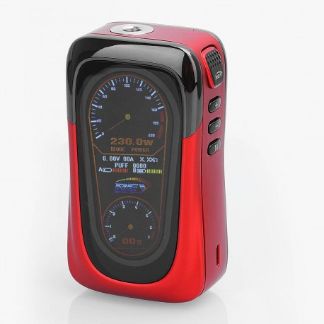 Authentic REV GTS 230W TC VW Variable Wattage Box Mod - Red, 5~230W, 2 x 18650