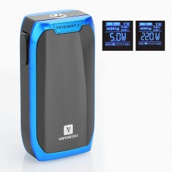 Authentic Vaporesso Revenger X 220W TC VW Variable Wattage Mod - Blue, 5~220W, 2 x 18650