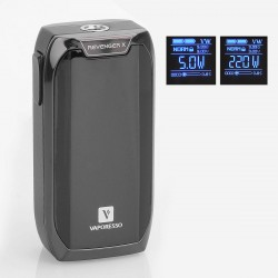 Authentic Vaporesso Revenger X 220W TC VW Variable Wattage Mod - Black, 5~220W, 2 x 18650