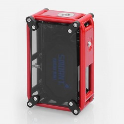 Authentic Smoant RABOX Mini 120W 3300mAh Box Mod - Red, Stainless Steel