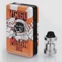 Authentic Sigelei Vcigo Moon Box 200W Mod + Moonshot RDTA Kit - Orange, 2 x 18650, 2ml, 24mm Diameter
