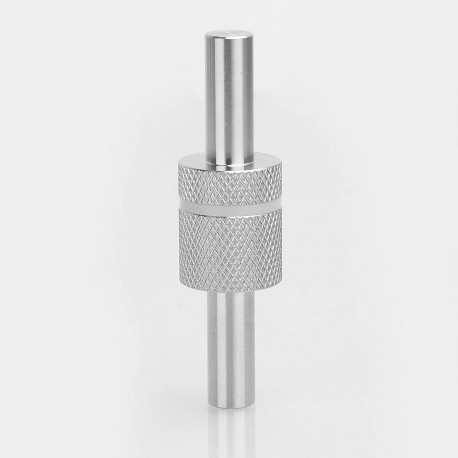 Authentic Coil Father Polish Jig for Mechanical Mod / Atomizer - Silver, Stainless Steel