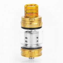 Authentic SMOKTech SMOK TFV12 Prince Sub Ohm Tank - Gold, Stainless Steel, 8ml, 28mm Diameter, Standard Edition