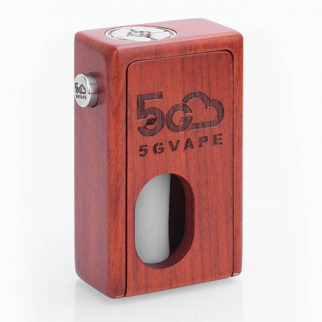 Authentic 5GVape Supercar Squonk Mechanical Box Mod - Red, Rosewood, 8ml, 1 x 18650