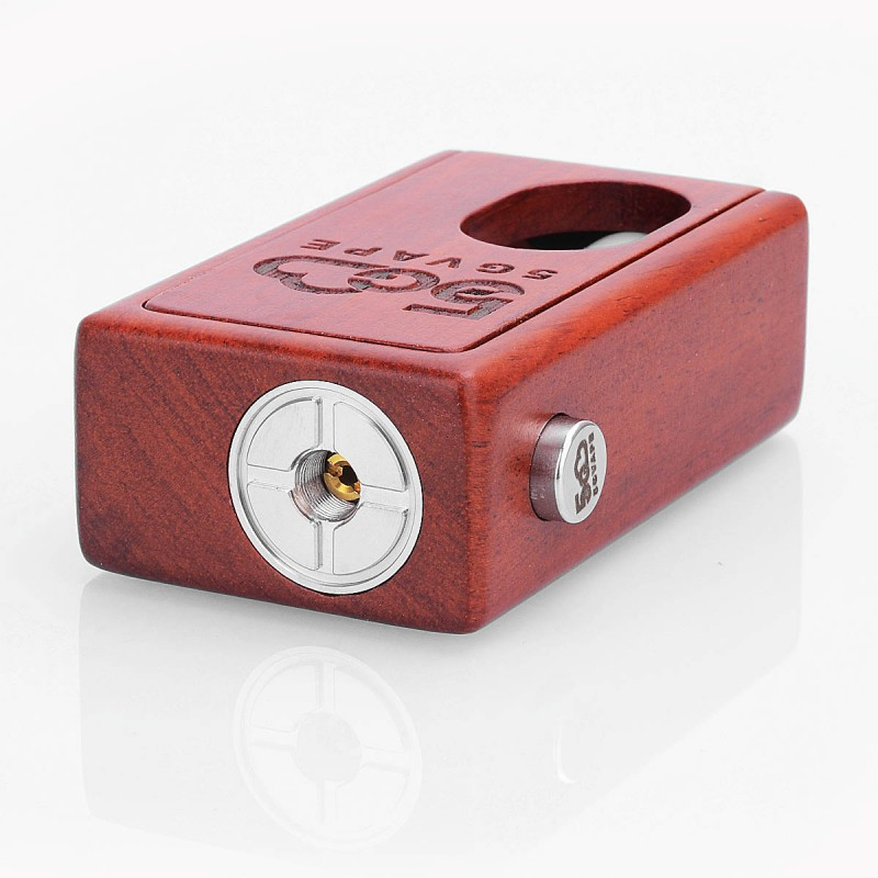 Authentic 5GVape Supercar Red Rosewood 8ml 18650 Squonk Box Mod