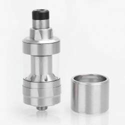 Kindbright KF Prime Style RTA Rebuildable Tank Atomizer - Silver, 316 Stainless Steel, 2ml, 22mm Diameter