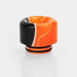 810 Drip Tip for SMOK TFV12 / TFV8 / TFV8 Big Baby - Black + Orange, Acrylic, 15mm