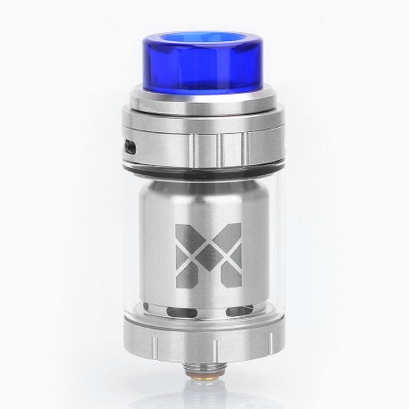 Authentic Vandy Vape Mesh 24 RTA Rebuildable Tank Atomizer - Silver, Stainless Steel, 24.4mm Diameter