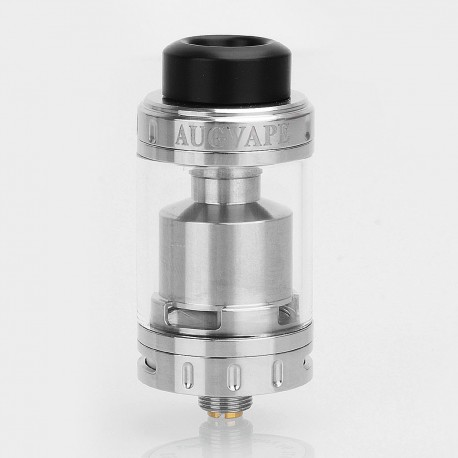 Authentic Augvape Merlin MTL RTA Rebuildable Tank Atomizer - Silver, Stainless Steel, 3ml, 22mm Diameter