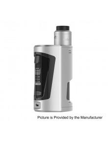 Authentic GeekVape GBOX 200W Squonk Box Mod + Radar BF RDA Kit - Pearl Chrome, 2 x 18650, 8ml, 24mm Diameter