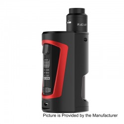 Authentic GeekVape GBOX 200W Squonk Box Mod + Radar BF RDA Kit - Black + Red, 2 x 18650, 8ml, 24mm Diameter