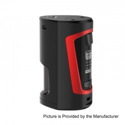 Authentic GeekVape GBOX 200W Squonk Box Mod - Black + Red, 2 x 18650, 8ml