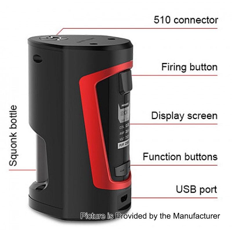 Authentic Geekvape Gbox 200w Black 8ml Squonk Box Mod